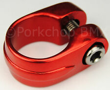 "Old school Suntour style BMX bicycle seat clamp 28.6mm (1 1/8"") - RED ANODIZED"