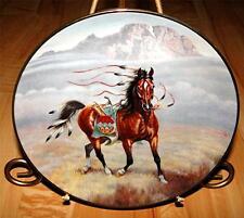 War Ponies Of The Plains PRAIRIE PRANCER An Arapaho War Pony INDIAN Horse Plate