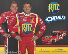 "2013 TONY STEWART RYAN NEWMAN ""OREO RITZ RCR"" #33 NASCAR NATIONWIDE POSTCARD"
