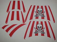 LEGO LOT OF LARGE NEW CLOTH PIRATE SALES STRIPES 28 X 18 DOT CROSSED SWORDS