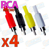4x Lote Concetor RCA MACHO aereo varios colores recto soldar audio video
