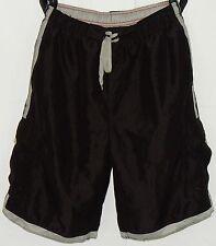 "Burnside Men's Cargo Board Shorts Sz M Inseam 10"" Black Gray Trim EUC"