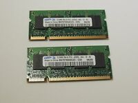 Samsung 1GB (2 X 512MB) PC2-4200S DDR2 Laptop RAM DIMM 200 PIN M470T6554CZ3-CD5