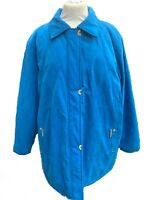 JBC Collection Women's Coat Smart Blue Turquoise Quilted Mac Size UK 24