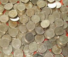 """* * * Gibraltar - Bulk Lot of 25 """"Neanderthal Skull"""" 1 Pound £1 Coins * * *"""