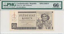 50 Korun Czechoslovakia  50 Korun 1950 Specimen PMG  66EPQ