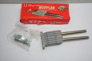 FOR COLLECTOR VINTAGE KYOSHO MUFFLER W/EXHAUST PIPES FOR 1/8 SCALE RC CAR NIB