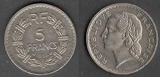 TRES RARE MONNAIE DE 5 FRANCS LAVRILLIER NICKEL DE 1938 @ RARE @ PROMOTIONS !!!