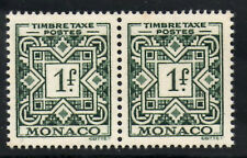 (Ref-5978) Monaco 1946  1f Green Postage Due SG.D330  Mint Pair (MNH)