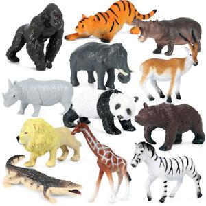 12PCS Safari Animals Figures Toys Jumbo Wild Zoo Animals Model Kids Toys Gift