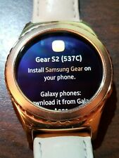 Samsung Galaxy Gear S2 classic 40mm Rose Gold Plated Case Ivory Classic Buckle …
