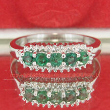 Emerald Diamond Sterling Silver Fine Jewellery
