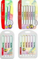 STABILO Swing Cool Pastel Highlighter Pen Marker | Assorted Packs of 2 / 4 / 6