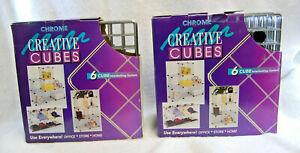 Seville Classics Chrome Creative Metal Cubes 10 Cube System Heavy Duty New M4784