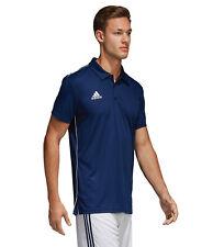 Adidas Core 18 Polo Training Top Men's Short Shirts Football Jersey Navy Cv3589