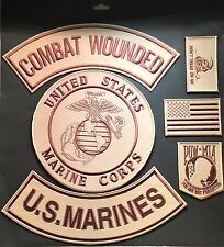 US MARINES SEAL COMBAT WOUNDED MILITARY VETERAN LOT 6 PATCHES MOTORCYCLE BIKER