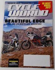 Cycle World magazine November 2017 Grand Canyon North Rim Adventure Indian