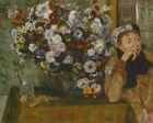 "Edgar Degas : ""A Woman Seated beside a Vase of Flowers"" (1865) — Fine Art Print"