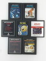 Atari 2600 Lot C 7 Game Cartridges Authentic Original Cleaned Untested