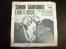 "SIMON & GARFUNKEL ""I AM A ROCK/FLOWERS NEVER BEND WITH ...""  1966 CBS 2303 ITA"