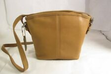 Vintage Coach Soho Tan Leather Small Shoulder Bag / Crossbody - New