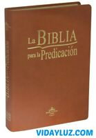 BIBLIA PREDICACION PASTORAL PIEL MARRON REINA VALERA 1960