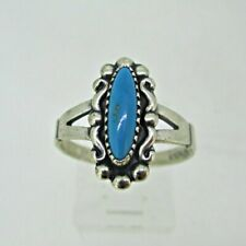 Wheeler Ring Size 8 Sterling Silver Turquoise Oval Stone