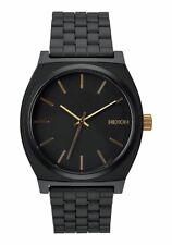 **BRAND NEW** NIXON THE TIME TELLER WATCH MATTE BLACK GOLD A0451041 NEW IN BOX!