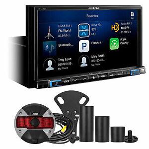 ALPINE i207-WRA Carplay Monitor+Spare Tire Camera For 2007-18 Jeep Wrangler JK