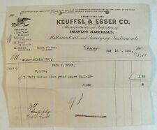 Keuffel Esser Invoice bill Drawing Materials Surveying Equipment transit 1901 a