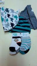 Infant 0-6 Months 3pc Hat Set & 4pc Socks Carter's Child 'O Mine #PKBK