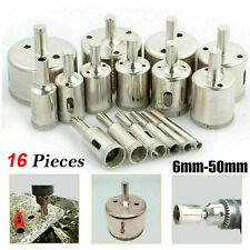 New 16x Diamond Holesaw set Holes Saw Drill Bit Cutter Tile Glass Marble Ceramic