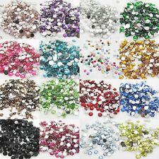 New 500pcs 5mm Diy Facets Resin Rhinestone Gems Flat Back Crystal beads