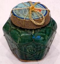 Antique Tung Chun Soy Ginger Green Glazed Stoneware Jar Hong Kong China Sealed!