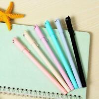 6pcs / set nette Katze Gel Pen Black Ink Stifte Kawaii Stationery School Of B5C0