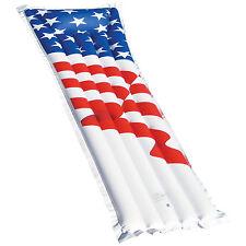 "Swimline 72"" Inflatable American Flag Swimming Pool and Lake Float Raft | 90176"