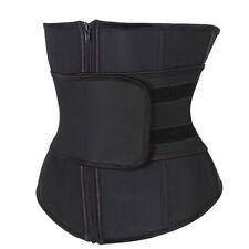 Women Sport Zip Waist Trainer Cincher Vest Body Control Shaper Slim Belt Corset