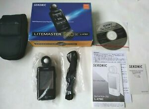 [Almost Unused in Box]SEKONIC L-478D Smart Light Meter LITEMASTER PRO From Japan