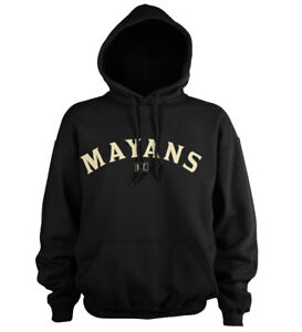 Official Licensed SOA - Mayans M.C Curved Logo Hoodie S-XXL Sizes (Black)