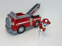Paw Patrol Rescue Pup Marshall Fire Truck with  Spring Action Figure