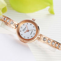 Fashion Women Ladies Dress Watches Stainless Steel Rhinestone Quartz Wrist Watch