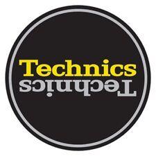"Technics Slipmat Pair ""Duplex 4"" - Silver, Yellow & Black Slip Mats by Magma"