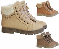 LADIES ANKLE GIRLS WOMENS FUR WINTER HIGH COLLAR TRAINERS SHOES BOOTS SIZE UK