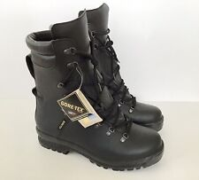 Mens Black Gore-Tex Tactical Aid Army Style Leather Boots, Vibram Sole - UK 12L
