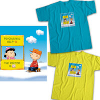 Peanuts Charlie Brown Lucy the Doctor is In Mens Womens Kids Unisex Tee T-Shirt