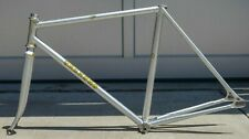 RARE 1998 3Rensho NJS Stamped 52 cm Silver Track Bicycle Frameset Bike