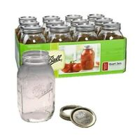Ball Quart Regular Mouth Canning Jars - 12 Pack