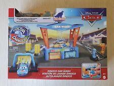 Voiture Cars Disney Mattel Color Changers Flash McQueen Station de lavage Dinoco