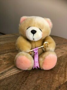 FOREVER FRIENDS '18' BEAR, STUFFED TOY, 18TH BIRTHDAY, WITH KEY - LIKE NEW