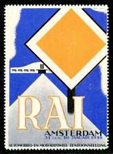 Netherlands Poster Stamp - 1938 Auto & Motorcycle Exhibition